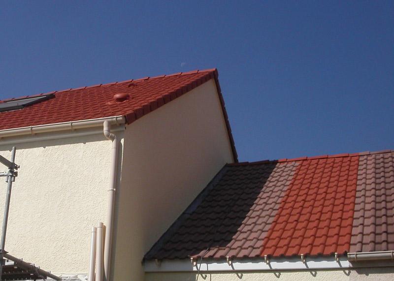 Nettoyage et Traitement de toiture antimousse - Peinture tuiles - Val d'Oise